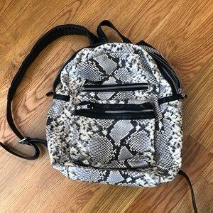 Ash Danica Large Snakeskin Leather Backpack